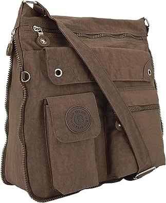 ekavale - leichte Damen-Umhängetasche - Praktische Crossbody-Handtasche - mit vielen fächern - Schultertasche wasserabweisende Damentasche