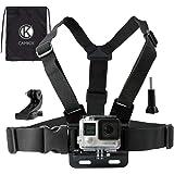 CamKix Imbracatura compatibile con GoPro / Imbracatura torso regolabile compatibile con Gopro Hero 8 Black, 7, 6, 5, Black, S