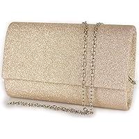 Pochette glitterata elegante da cerimonia donna piccola borsa gioiello clutch glitter borsetta a mano per feste party da…