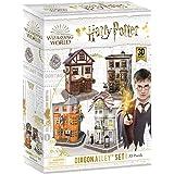 CubicFun Puzzle 3D Harry Potter Callejón Diagón Colección 4 en 1 Set - Quality Quidditch Supplies, Ollivanders Wand Shop, Wea