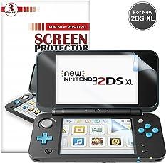 New Nintendo 2DS XL Display schutzfolie [3 Stück] - Younik 0.125mm / 4H Ultra-Klare HD Bildschirm folie für den Nintendo New 2DS XL 2017