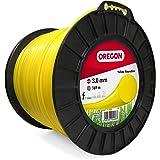 Oregon 69-371-Y Hilo de cortacésped redondo amarillo para cortadoras de césped y desbrozadoras, 3,0 mm x 169 m