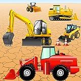 Puzzle mit Fahrzeugen und Bagger für Kleinkinder und Kinder: spielen mit den Bau Maschinen ! Educational Puzzle Spiele