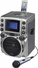 Karaoke USA GQ743 Portable System, Black