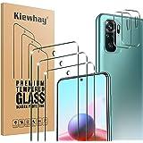 Kiewhay Schermbeschermer Compatibel met Xiaomi Redmi Note 10/ Note 10S Screen Protector 6.43'', 3x Gehard Glas +2x Camera Len