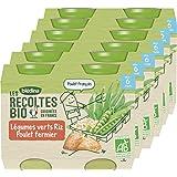 Blédina - Biologique - Légumes Verts Riz Poulet 2,40 kg - Pack de 6