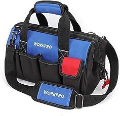 WORKPRO Tool Bag 14-inch Wide Open Multi-Pocket Organizer