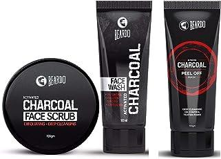 Beardo Activated Charcoal Combo (Beardo Peel Off Mask,Beardo Face Wash and Beardo Face Scrub)