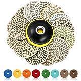SPTA 15 st diamant slipplattor för våt poleringsplatta, 4 tums dynor för granitsten-, betong-, marmorgolv slip eller polerare