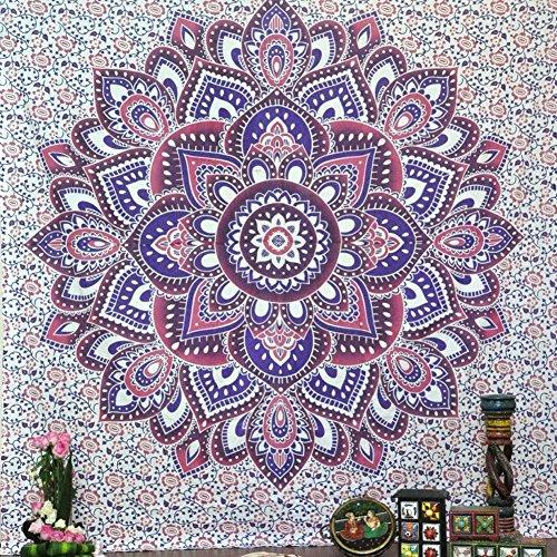 Cuadrado Mandala Tapestry multiusos toalla playa manta Yoga Mat Picnic Mat Mantel...