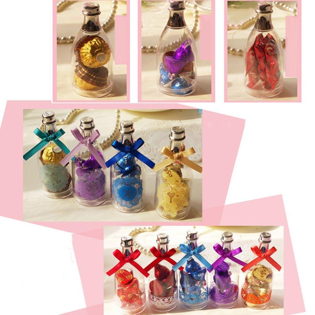Tfxwerws Nonelty plastica bottiglie di champagne Candy Baby Shower bomboniere decorazione–Confezio