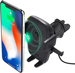 Iottie Easy One Touch Qi Wireless Charger Vent Mount Schnellladung Für Samsung Galaxy Note 9 Iphone Qi Geräte Dual Charger Hlcrio135am Elektronik