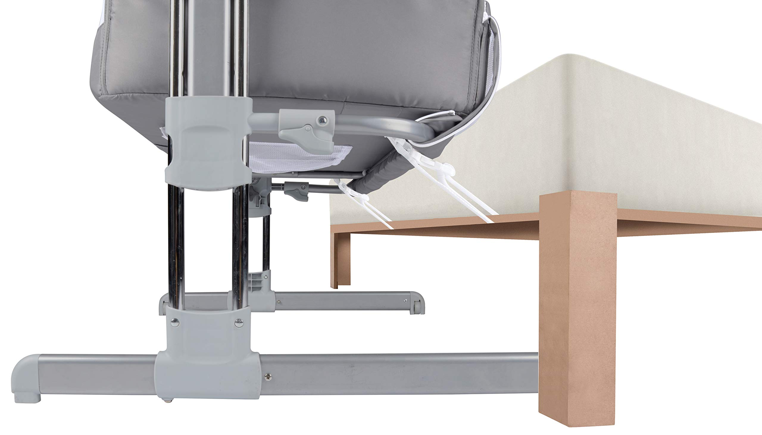 Safety 1st Calidoo Cot Cot Cot Cot Cot Bed Cot Cot Cot Cot with Recliner and 7 Heights Travel Cot for Newborn - Warm Grey Safety 1st Crib side bed for newborns with opening edge to be attached to the parents' bed and sleep next to the child in safety Height adjustable to 7 levels and can be reclined to an anti-backflow position Adjustable feet to be attached to beds with storage box 6