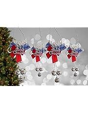TIED RIBBONS Christmas Decorative Ornamental Bells