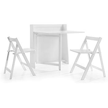 Perfect Julian Bowen Helsinki Compact White Dining Set With 2 Folding Chairs, Wood,  86 X 80 X 90 Cm