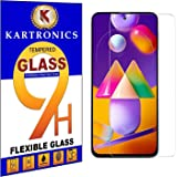 Kartronics Compatible with (Pack of 2) Samsung M31S/A51 Premium Tempered Glass Screen Protector Slim 9H Hard 2.5D with Full I