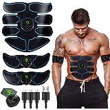 ROOTOK Elettrostimolatore per Addominali, Elettrostimolatore Muscolare, EMS Stimolatore Muscolare, ABS Trainer/Toner per Addo