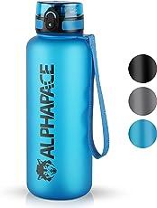 ALPHAPACE ® Sport Trinkflasche 1000ml und 650ml – getestet BPA frei und auslaufsicher – Premium Sportflasche – für Sport, Schule, Reisen, Outdoor und Freizeit – 100% Zufriedenheitsversprechen …