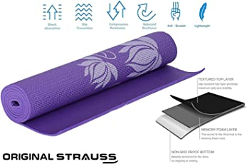 Strauss Yoga Mat, 6mm (Floral)