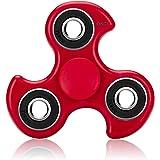 Fidget Spinner - OKCS - Spielzeug Tri Spinner Stresslöser Konzentration - Rot