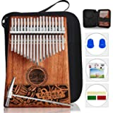 Kalimba Thumb Piano 17 Keys, Portable Mbira Finger Piano w/Protective Case, Fast to Learn Songbook, Tuning Hammer, All…
