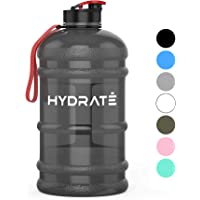 HYDRATE XL Jug 2.2 Litre Water Bottle - BPA Free, Flip Cap, Ideal for Gym - Colour Options