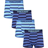 Embargo Mens Underwear Multipack Boxer Shorts Packof 4 Hipster Trunks Cotton Stretch Underpants