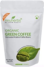 Neuherbs Organic Green Coffee Beans for Weight Management 200g+25g Free