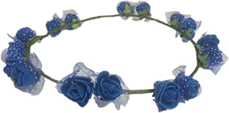 Loops n Knots Pataka Collection Blue Tiara/Crown/Headband for Girls & Women -Hair Accessories for Birthday Party & Wedding
