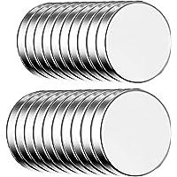 ECENCE Aimants en néodyme 20 Aimants circulaires Auto-adhésifs - 10x1,5mm - Revêtement Haut de Gamme NiCuNi. Disques…