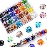 LABOTA 1200pz 6mm Perline Cristallo Sfaccettato, Perline di Vetro AB Sfaccettate con Scatola per Braccialetti, collane, Gioie