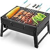 Uten Grillgrill bärbar hopfällbar grill rökare grill för utomhusmatlagning camping vandring picknick backpacking
