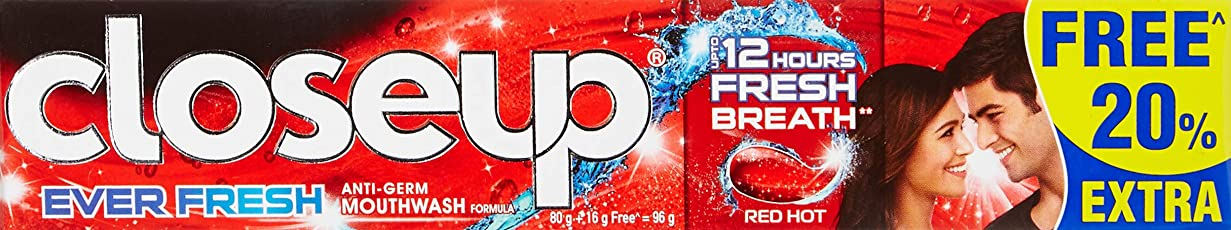 Closeup Ever Fresh Red Hot - 80 g with Free 16 g