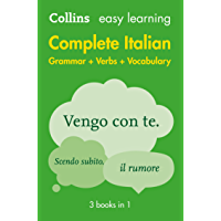 Easy Learning Italian Complete Grammar, Verbs and Vocabulary (3 books in 1): Trusted support for learning (Collins Easy Learning)