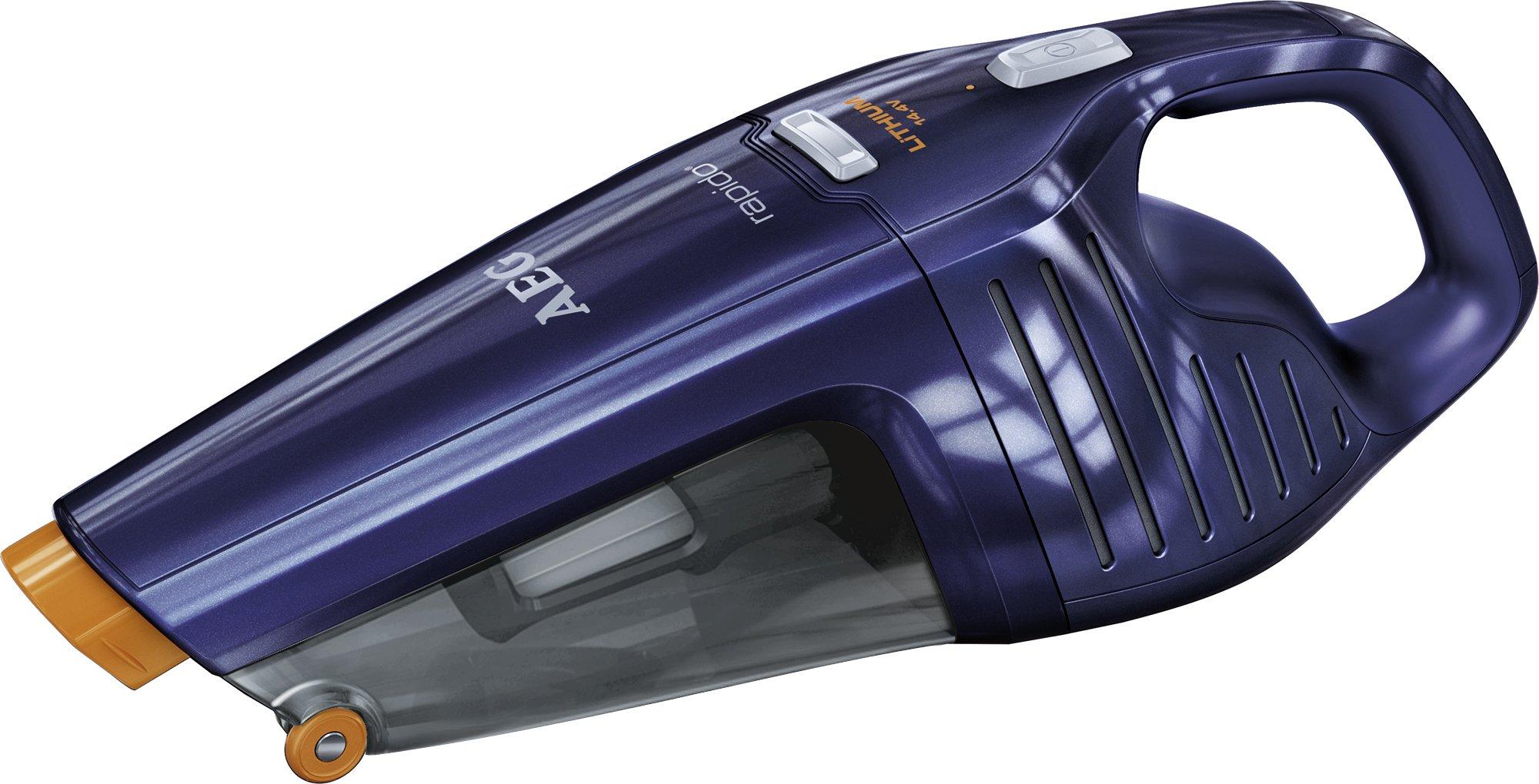 AEG Rapido AG 6114B Akkusauger (beutellos, inkl. Zubehör, bis zu 27 min Laufzeit, ausziehbare Fugendüse, Doppelfilterung…