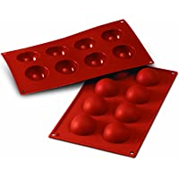 Silikomart 20.004.00.0060 SF004 Moule Forme Demi-Sphères 8 Cavités Silicone Terre Cuite