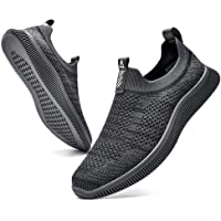 MrToNo Slip On Sneakers Herren Turnschuhe Sportschuhe Fitness Sporthalle Freizeitschuhe Atmungsaktiv Leichtgewichts…