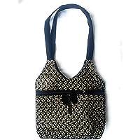 NavRup HandWorks Women Shoulder Bag, Handloom Bag, Cotton Bag.