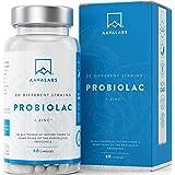 Probiótico [ 50 mil millones de UFC ] 20x Cepas bacterianas (Incl. Acidophilus & Bifidobacterium) + Inulina por dosis - Zinc