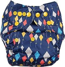 Fig o honey Kid's Kite Print Cloth Diaper (Black)