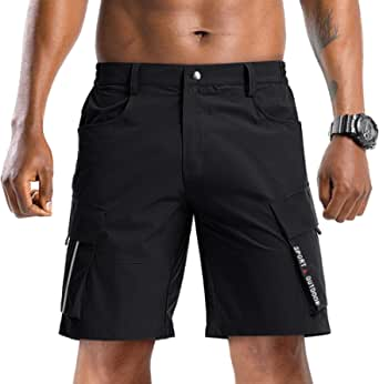 TACVASEN Men's Shorts Outdoor Hiking Shorts Quick Dry Summer Shorts Cargo Cycling Shorts with Pockets