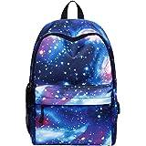 Mochila escolar Galaxy   Mochila escolar impermeable, mochila de viaje de lona unisex con estilo para estudiantes, mochila pa