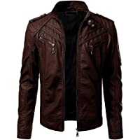 Blaq Ash Men's Faux Leather Biker Outerwear Jacket