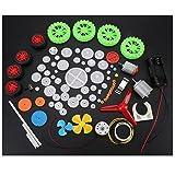 Wytino Engrenages Kits, Engrenages en Plastique Voiture de Jouet Accessoires de Bricolage Moteurs Worms Ceintures Manchons Po