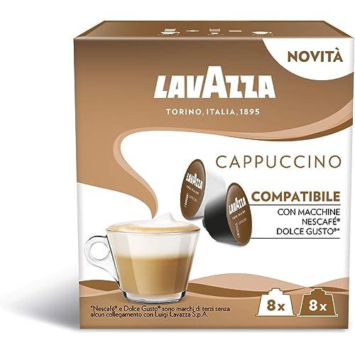 Lavazza, 96 Capsule Compatibili con Macchine Nescafé Dolce Gusto, Cappuccino, 6 Confezioni da 16 Capsule (1200 g)