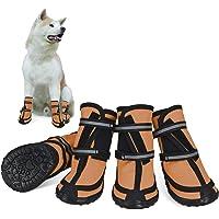 Dociote Hundeschuhe pfotenschutz mit Anti-Rutsch Sohle, reflektierendem Riemen, Klettverschluss wasserdicht Schneeschuhe…