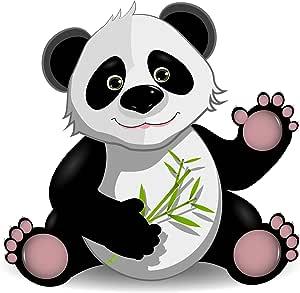 Michael Rene Pflüger Barmstedt Premium Aufkleber 8x8 5 Cm Lustiger Panda Pandabär Sticker Auto Motorrad Bike Kinder Autoaufkleber Made In Germany Auto