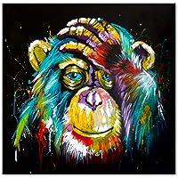 no brand Aquarelle Pensée Singe Mur Art Toile Prints Abstrait Animaux Pop Art Toile Peintures Mur Décor Photos pour…