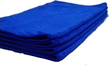 Kleawip Microfiber Car Cleaning, Detailing & Polishing Cloth 400 GSM, 40x40cm, Pack of 4(Blue)