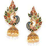 Zaveri Pearls Multicolor Peacock Design Jhumki Earring For Women-ZPFK8775